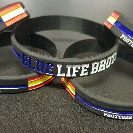pulseras blue life brothers letras blancas servir y proteger II, nuevo modelo